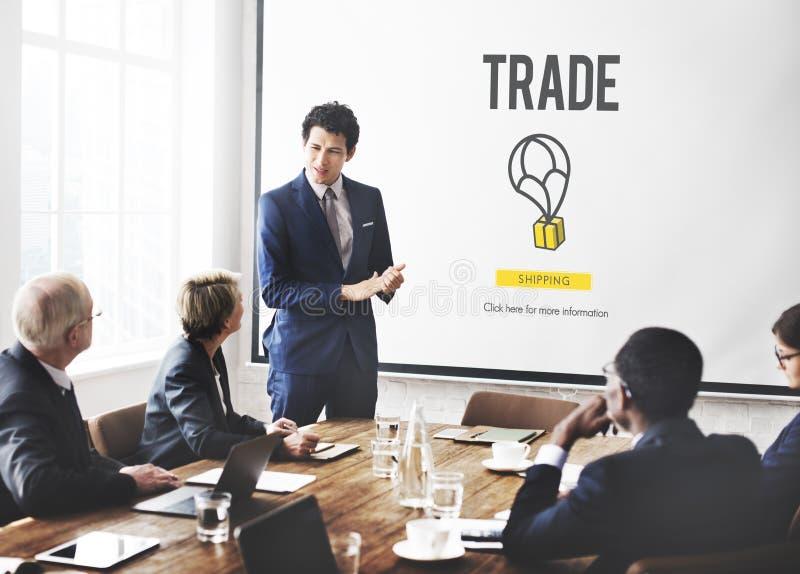 商业货物产业工业进出口概念 免版税库存图片