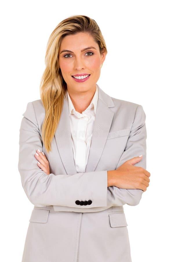 年轻商业主管画象 免版税库存照片