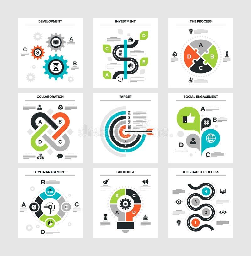 商业Infographics 库存例证