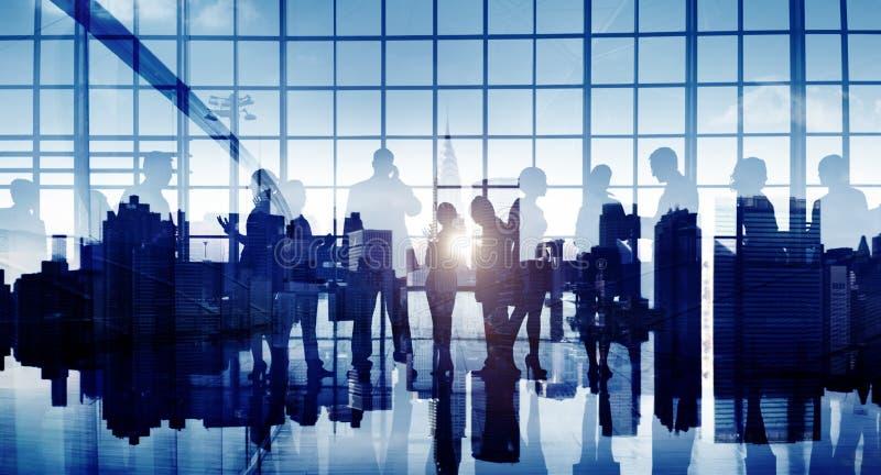 商人专业讨论交谈谈话 免版税库存图片