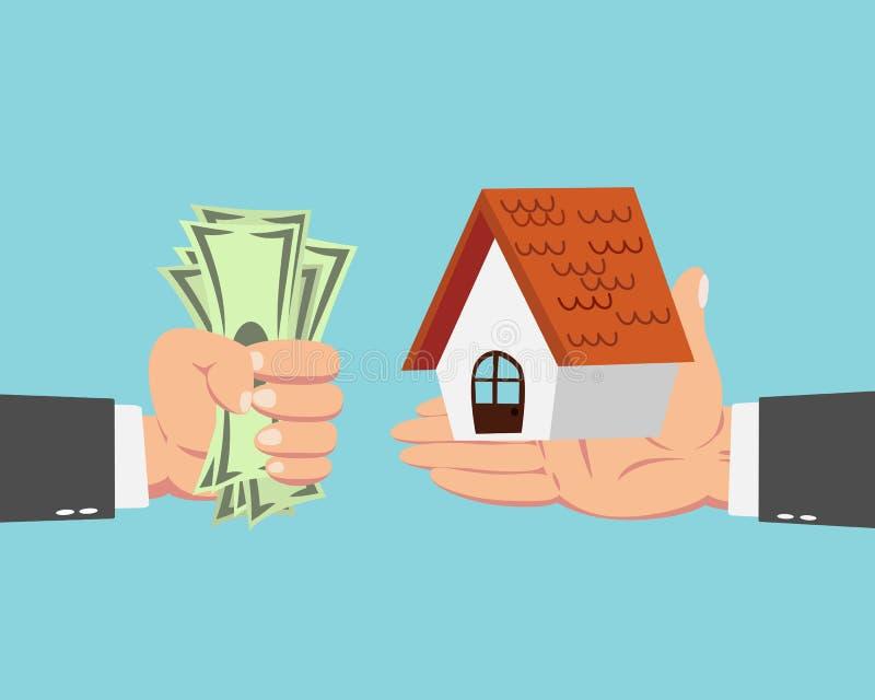 商人买的房子 向量例证