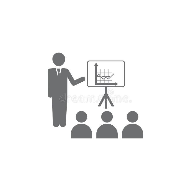 商人介绍图象 简单的元素例证 企业象普遍为网和机动性 库存例证