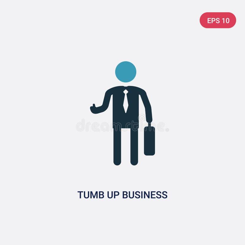 商人传染媒介象的两种颜色的tumb从人概念 商人传染媒介标志标志的被隔绝的蓝色tumb可以是用途 库存例证