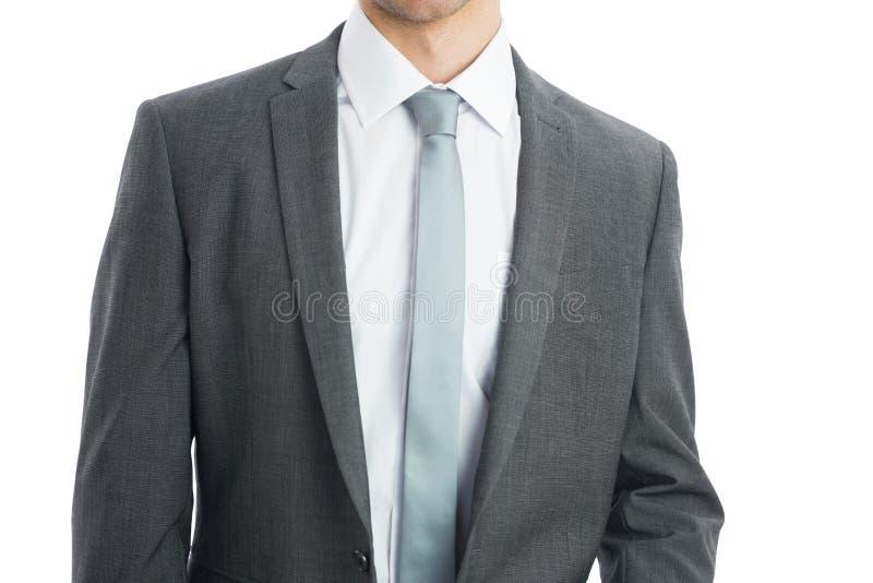 商人佩带的衣服的中间部分 库存图片