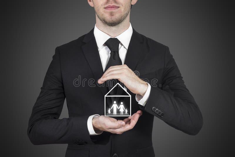 商人保护的房子 库存图片