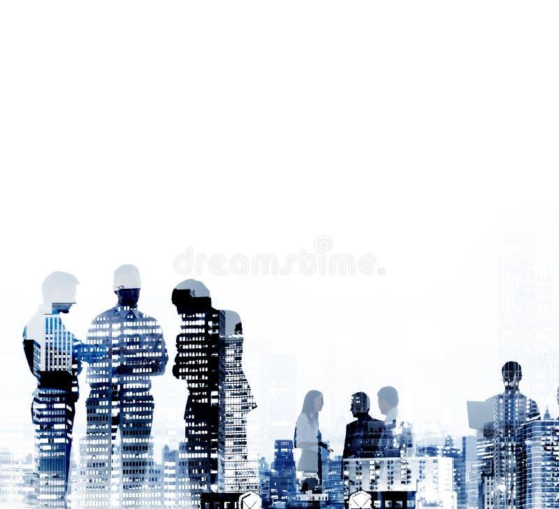 商人公司连接讨论会议概念 免版税图库摄影