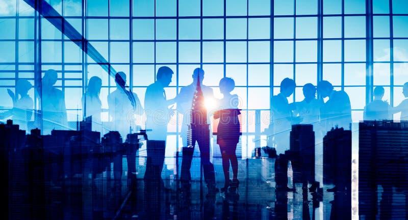 商人公司连接讨论会议概念 免版税库存图片