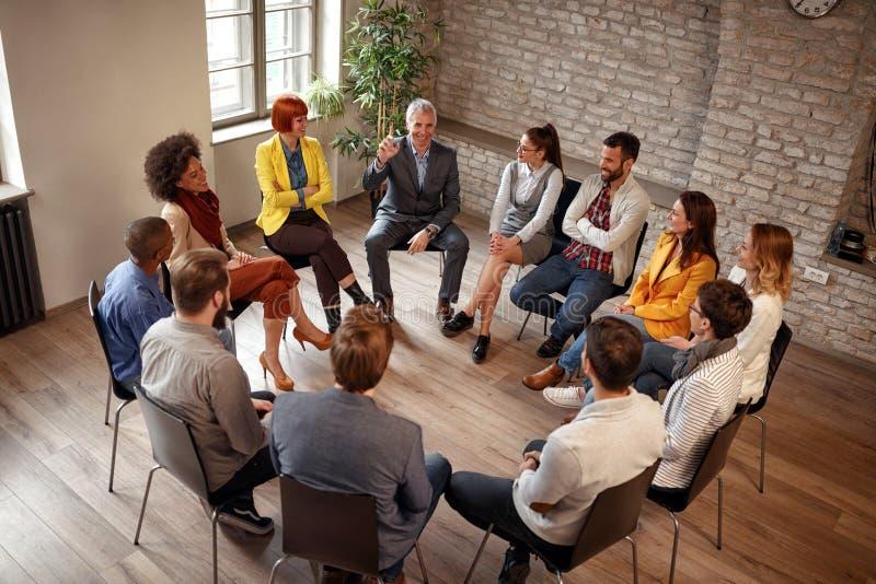 商人公司通信会议办公室 免版税库存照片