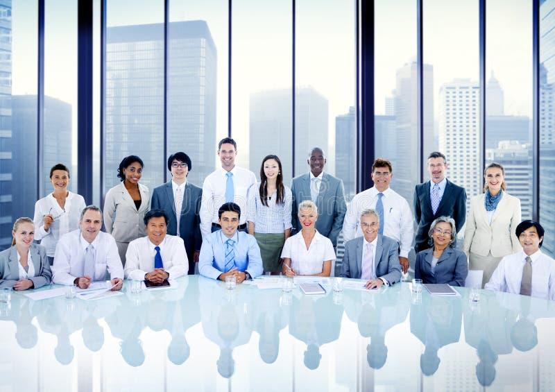 商人合作会议办公室概念 免版税图库摄影
