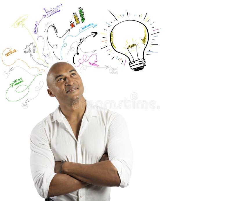 商人和创造性的事务 免版税库存照片