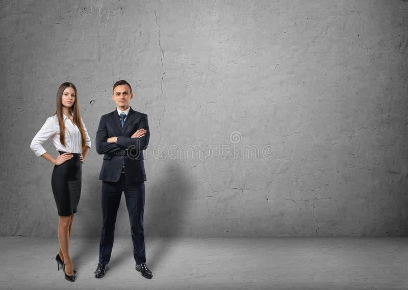 商人和女实业家身分正面图  库存图片