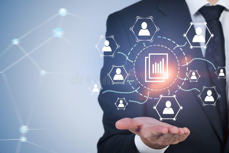 商人和文件管理接口 库存例证