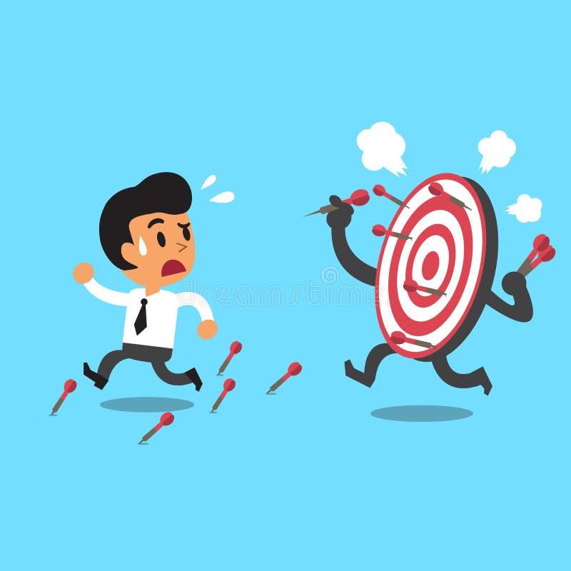商人和目标 向量例证