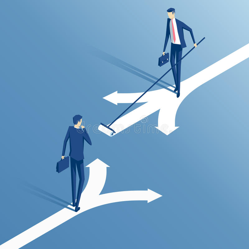 商人和选择 向量例证