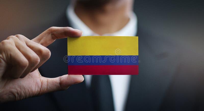商人哥伦比亚旗子藏品卡片  免版税库存图片