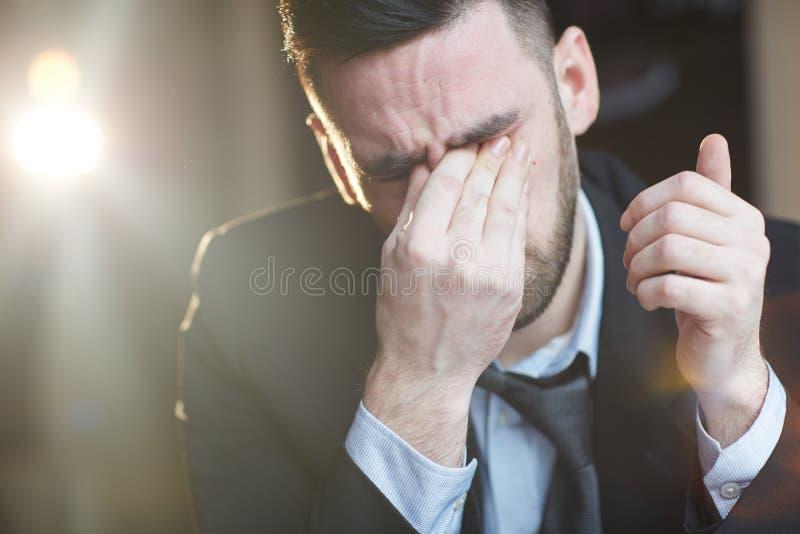 商人哭泣 免版税库存照片