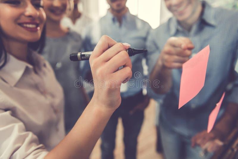 商人在会议 免版税库存图片