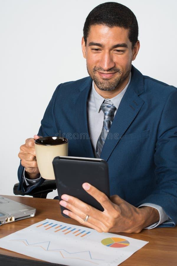 商人在办公室 免版税库存图片