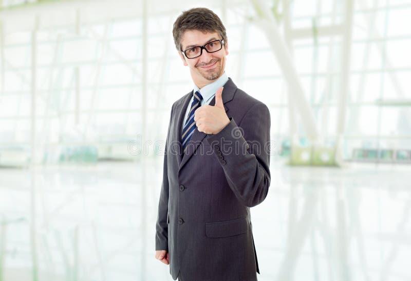 商人大拇指 免版税库存图片