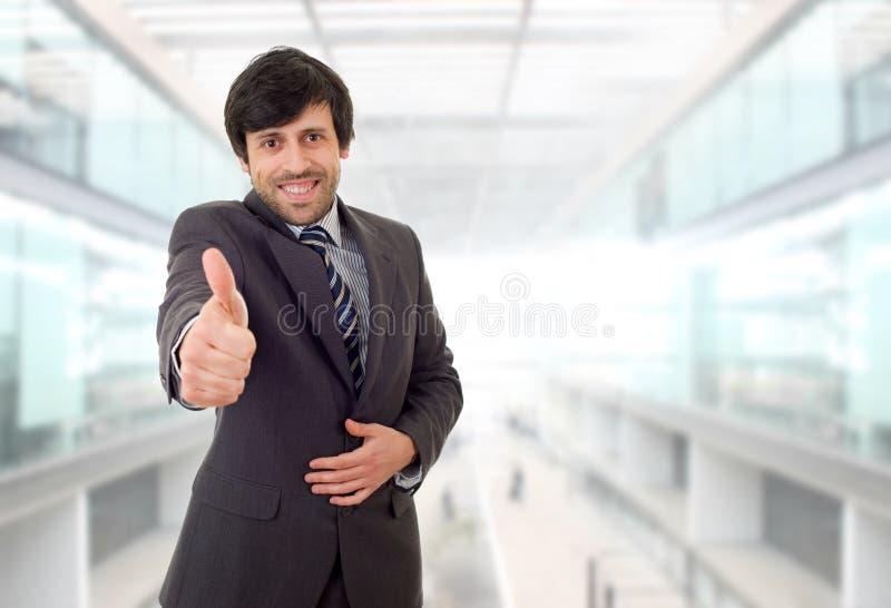 商人大拇指 免版税库存照片