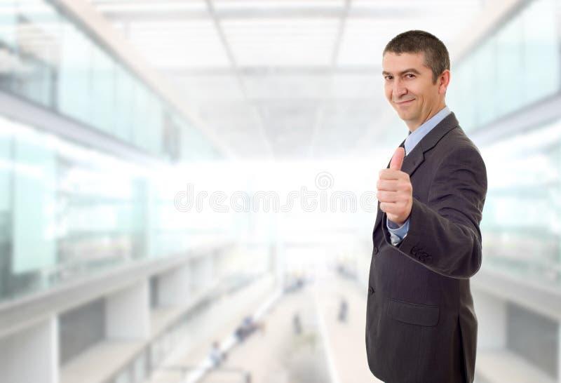 商人大拇指 库存图片
