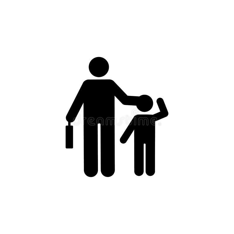 商人学生步行象 回到学校例证象的元素 标志和标志汇集象网站的,网 库存例证