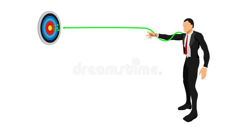 商人射击一支箭 皇族释放例证