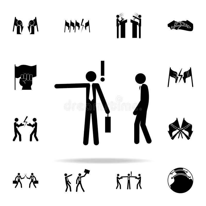商人射击雇员象 网和机动性的冲突象全集 向量例证
