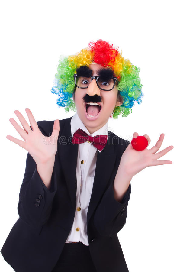 商人小丑 免版税库存照片