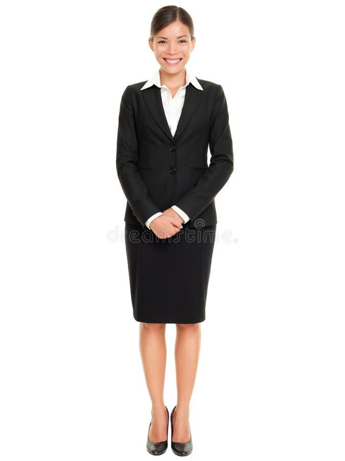 商人常设妇女 免版税库存照片