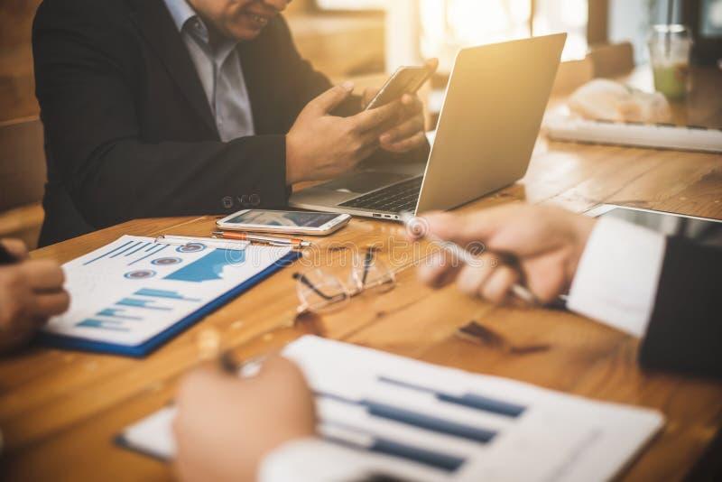 商人律师会议与审计员的伙伴任命 免版税库存图片