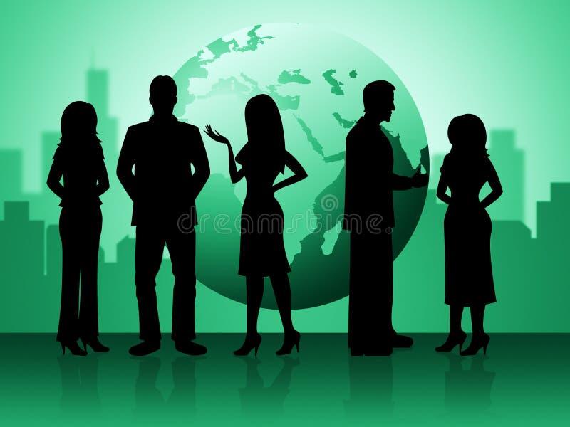 商人意味专家商人和女实业家 向量例证