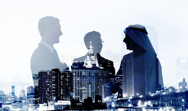 商人成交协议成为合作概念的伙伴 免版税库存照片
