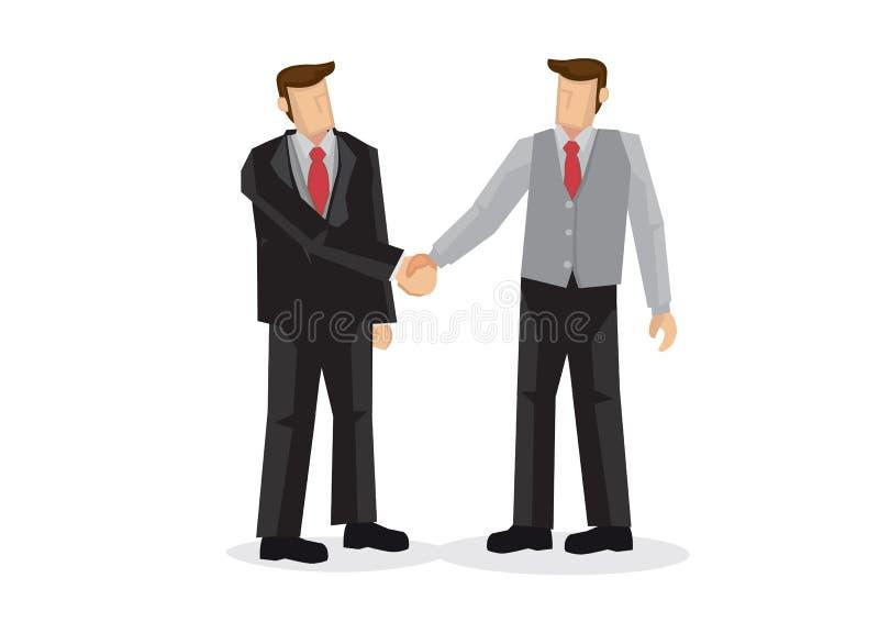 商人手震动 谈判的事务, c的概念 皇族释放例证