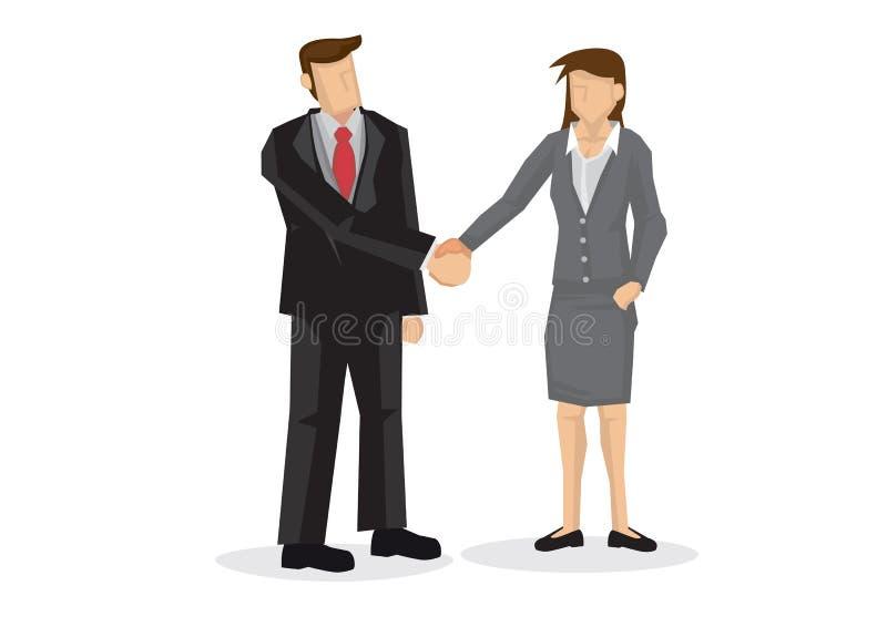 商人手震动 谈判的事务, c的概念 向量例证