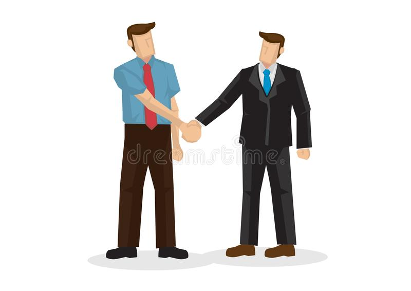 商人手震动 谈判的事务, c的概念 库存例证