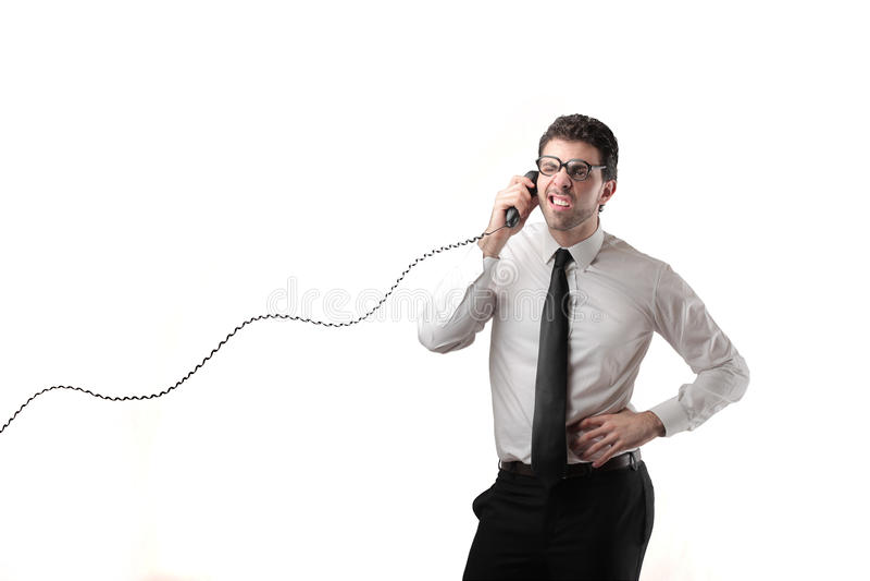 商人打电话 库存照片