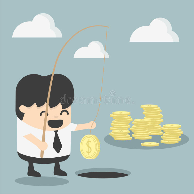 商人投资概念 向量例证