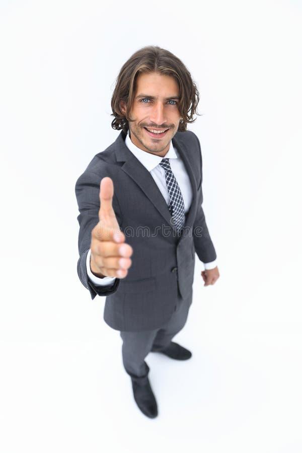 商人提议和给握手的手 库存照片