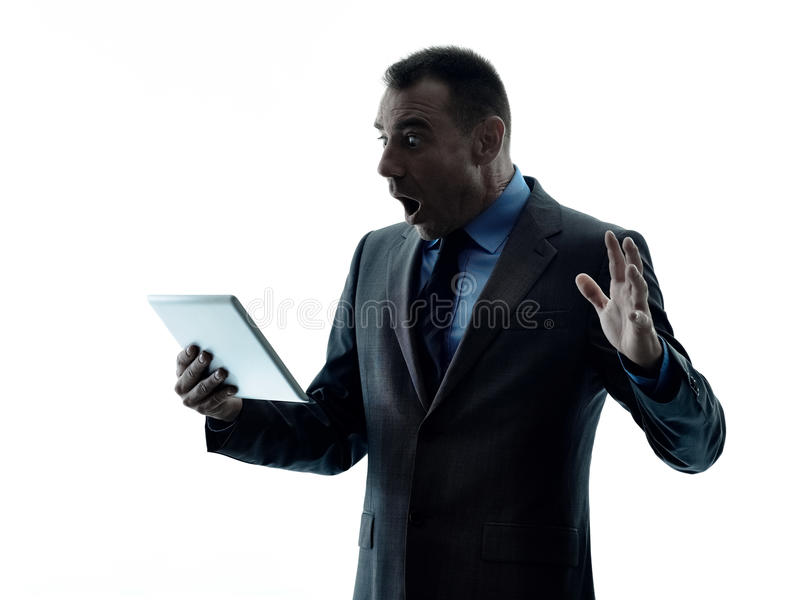商人数字式片剂 库存图片