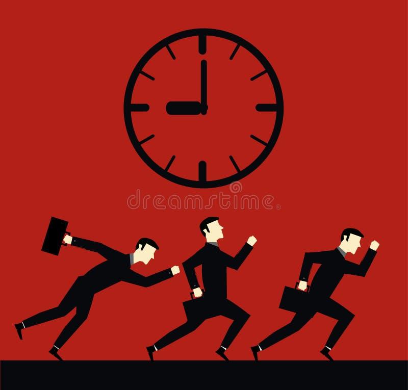 商人最后期限时间 库存例证