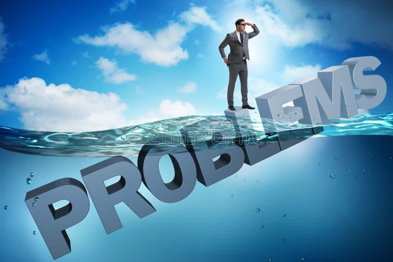 商人有问题在企业概念 库存例证