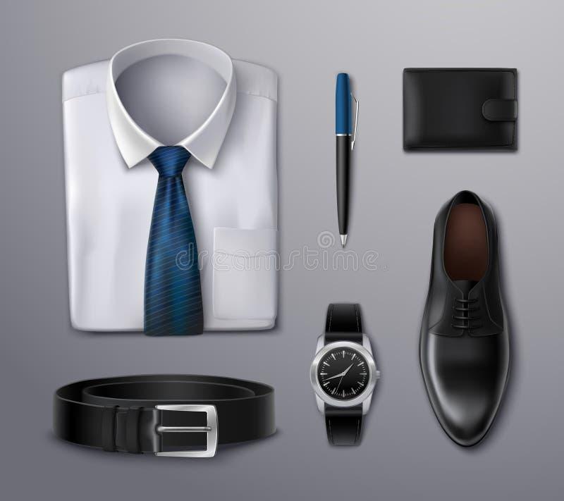 商人服装辅助部件 库存例证
