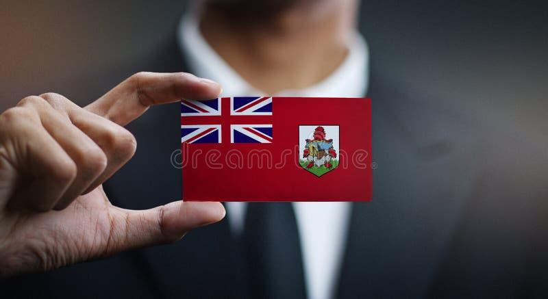 商人百慕大旗子藏品卡片  免版税库存图片