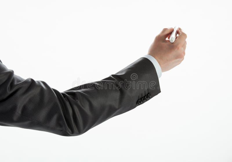 商人的手文字 图库摄影