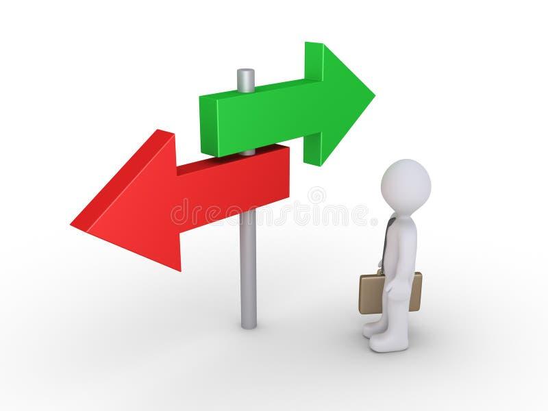 商人看两个选择 库存例证