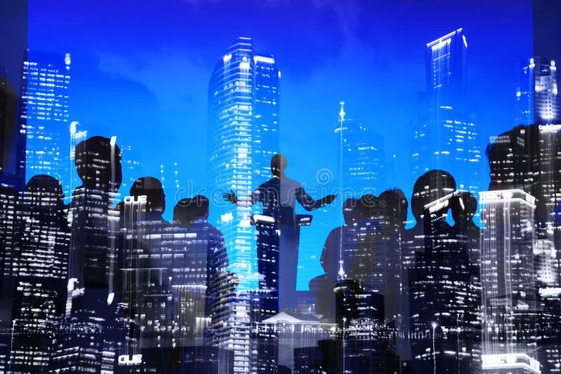商人研讨会会议会议城市Scape概念 免版税图库摄影