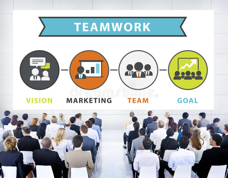 商人研讨会会议连接配合概念 向量例证