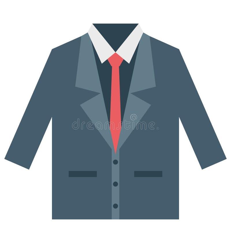 商人礼服,衣物隔绝了可以容易地修改或被编辑的传染媒介象 向量例证