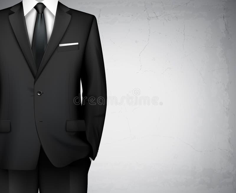 商人衣服背景 库存例证